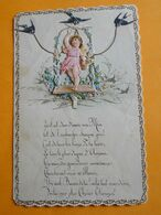 Lettre Du 1er Janvier 1893 - Découpis Relief - Hirondelles & Pigeon - Ecrite à Bruxelles Par Charles Pfister 13 Ans - Old Paper