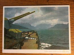 III. Reich, Propaganda  Karte, Ungarisch Geschrieben, Schiff, - Weltkrieg 1939-45