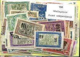 150 Timbres Madagascar Avant Independance - Non Classés