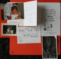 Lot 6- 6 Documents Comprenant 4 Documents Sur La Naissance Avec Faire-Part Et Photos- 2 Photos De Famille - Geboorte & Doop