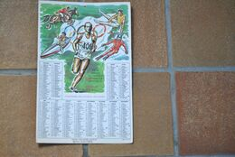 3379/Calendrier 1976 Luxembourgeois-1976 Olympique INNSBRUCK MONTREAL Josy BARTHEL 1500m Médaille Or Helsinki - Big : 1971-80