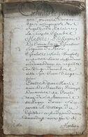 1730 Grand Manuscrit Entre La Fille Du Roi Louis XIV Anne De Bourbon Princesse De Conti De Cronenbourg Seigneur De Broin - Manuscripts
