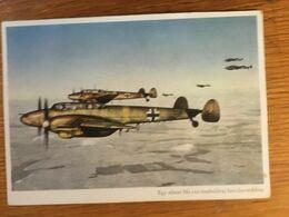 III. Reich, Propaganda  Karte, Ungarisch Geschrieben, Luftwaffe, Me 110 - Weltkrieg 1939-45