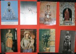 Lot De 11 CP- Les Sculptures Religieuses- Vierge Noire- Vierge- Saints - Skulpturen