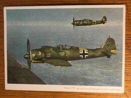 III. Reich, Propaganda  Karte, Ungarisch Geschrieben, Luftwaffe, FW 190 - Weltkrieg 1939-45