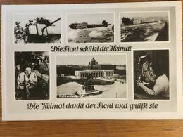 III. Reich, Propaganda  Karte, Luftwaffe - Weltkrieg 1939-45