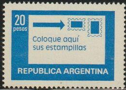 Argentina 1978 Scott 1201 Sello ** Servicio Postal Correct Postage Michel 1362x Yvert 1144 Stamps Timbre Argentine - Argentina
