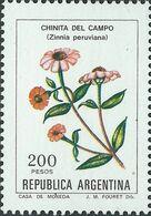 Argentina 1982 Scott 1344 Sello ** Flora Flores Chinita Del Campo (Zinnia Peruviana) Michel 1558y Yvert 1312 Stamps - Argentina