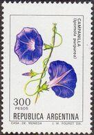 Argentina 1982 Scott 1345 Sello ** Flora Flores Campanilla (Ipomola Purpurea) Michel 1559y Yvert 1313 Stamps Timbre - Argentina