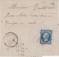 """FRANCE : PC 4186 . """" SERBONNES """" . (83) . N° 14 . AB . 1861 . LST . - 1849-1876: Période Classique"""