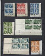 Collection De Coins Datés Neufs Sans Charnière De 1929 à 1941 ( Voir Les 4 Scans) + De 370 Euros De Cote - Collezioni