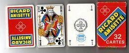 Jeu De De 32 Cartes RICARD ANISETTE Complet Avec étui - 32 Cartes