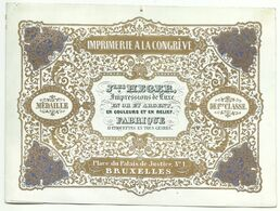 Bruxelles Heger Imprimerie Carte Porcelaine - Porseleinkaarten