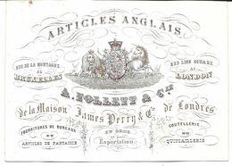 Bruxelles Follett & Cie Articles Anglais Carte Porcelaine - Porzellan