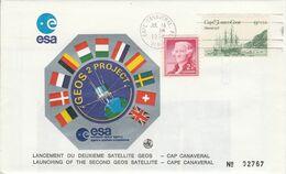 USA ETATS UNIS CAP CANAVERAL LANCEMENT DU SECOND SATELLITE GEOS 1978 - Noord-Amerika