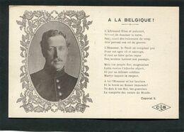 CPA - A La Belgique ! - Guerra 1914-18