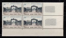 1954 YV 988 N** Versailles En Bloc De 4 Cote 44+ Euros - Nuovi