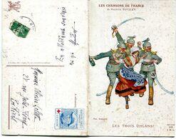 Carte Double - LES CHANSONS DE FRANCE - Les Trois Uhlans ! - War 1914-18