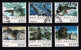 New Zealand 1992 Ross Dependency - Antarctic Seals Set Of 6 Used - Dépendance De Ross (Nouvelle Zélande)