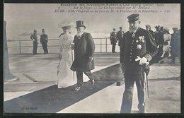 CPA Cherbourg, Réception Des Souberains Russes 1909, Sur La Digue, Le Cortège Conduit Par M. Mollard - Cherbourg