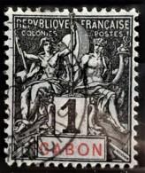 GABON 1904/07 - Canceled - YT 16 - 1c - Used Stamps