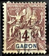 GABON 1904/07 - Canceled - YT 18 - 4c - Used Stamps