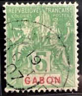 GABON 1904/07 - Canceled - YT 19 - 5c - Used Stamps