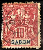 GABON 1904/07 - Canceled - YT 20 - 10c - Used Stamps