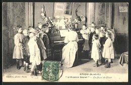 CPA Epone, L'Avenir Social, La Lecon De Chant - Epone