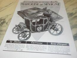ANCIENNE PUBLICITE CHOCOLATS LA MARQUISE DE SEVIGNE 1934 - Afiches