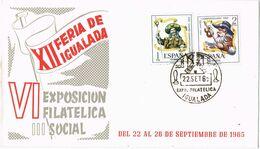 37532. Carta IGUALADA (Barcelona) 1965. Feria De Igualada. Sellos Año Santo Comnpostelano - 1931-Aujourd'hui: II. République - ....Juan Carlos I