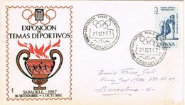 37533. Carta SABADELL (Barcelona) 1967. Exposicion Temas Deportivos. Deporte - 1931-Aujourd'hui: II. République - ....Juan Carlos I