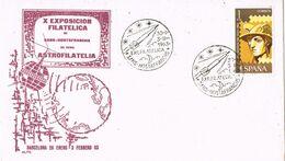 37535. Carta SANS HOSTAFRANCHS (Barcelona) 1963. Exposicion ASTRO FILATELIA - 1931-Aujourd'hui: II. République - ....Juan Carlos I