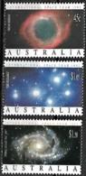 "Australia, 1992 Année Spatiale Internationale ""The Pleiades""; ""Helix Nebula""; ""Spiral Galaxy NGC 2997"", 3 Val MNH - Oceania"
