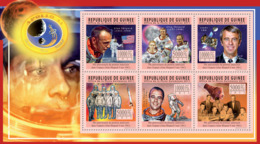 Guinea 2011 - 50th Anniversary Of First American In Space (Alan Shepard).  Y&T 5826-5831, Mi 8446-8451 - Guinea (1958-...)