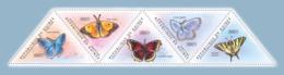Guinea 2011 - Butterflies II.  Y&T 5754-5758, Mi 8562-8566 - Guinea (1958-...)