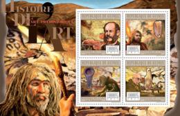 Guinea 2011 - Prehistoric Art.  Y&T 5891-5894, Mi 8758-8761 - Guinée (1958-...)