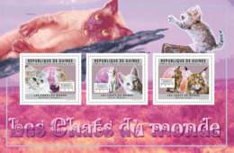 Guinea 2011 - Cats Of The World I.  Y&T 6043-6045, Mi 8906-8908 - Guinea (1958-...)