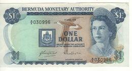 BERMUDA 1 Dollar    (Queen Elizabeth II -  Sailings Boats)  P28b    Dated 1st |April 1978 - Bermudas