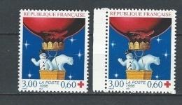 """FR YT 3039 & 3039a """" Croix Rouge """" 1996 Neuf** - Ongebruikt"""