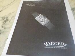 ANCIENNE PUBLICITE BESSOIN D UNE MONTRE  JAEGER LECOULTRE  1934 - Juwelen & Horloges