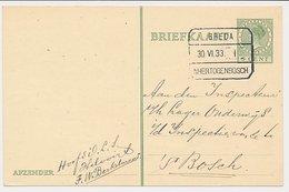 Treinblokstempel : Breda - S Hertogenbosch I 1933 - Ohne Zuordnung