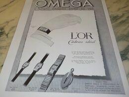 ANCIENNE PUBLICITE L OR ET MONTRE OMEGA 1934 - Juwelen & Horloges