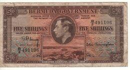 BERMUDA 5 Shillings      King Geroge VI  P8b    Dated 12th  May 1937 - Bermudas