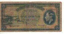 BERMUDA 1 Pound      King Geroge VI  P11a    Dated 12th  May 1937 - Bermudas