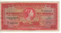 BERMUDA 10 Shillings    Queen Elizabeth II   P19b    Dated 1st   May 1957 - Bermudas
