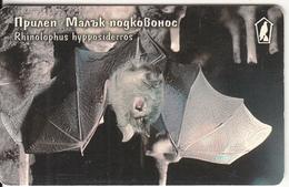 BULGARIA(chip) - Bat, Rhinolophus Hypposiderros, Mobika Telecard 100 Units(type 2), Tirage 60000, 09/99, Used - Ohne Zuordnung
