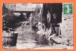 X61054 BAGNOLES-DE-L'ORNE (61) Lavoir Au Bord LA VEE Lavandières Blanchisseuses 1908 à Henri GASTALDI Nice NEURDEIN 167 - Bagnoles De L'Orne