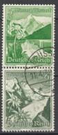 DR S 245,  Gestempelt, WHW Ostmarklandschaften Und Blumen 1938 - Se-Tenant