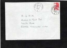 Devant Enveloppe 1982 - Ambulant - Cachet NANTES  à  LYON - B - Correo Ferroviario